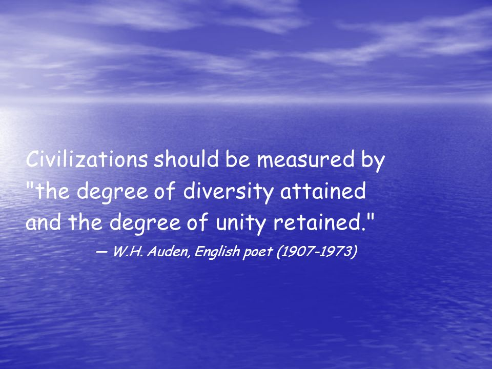 Civilizations should be measured by