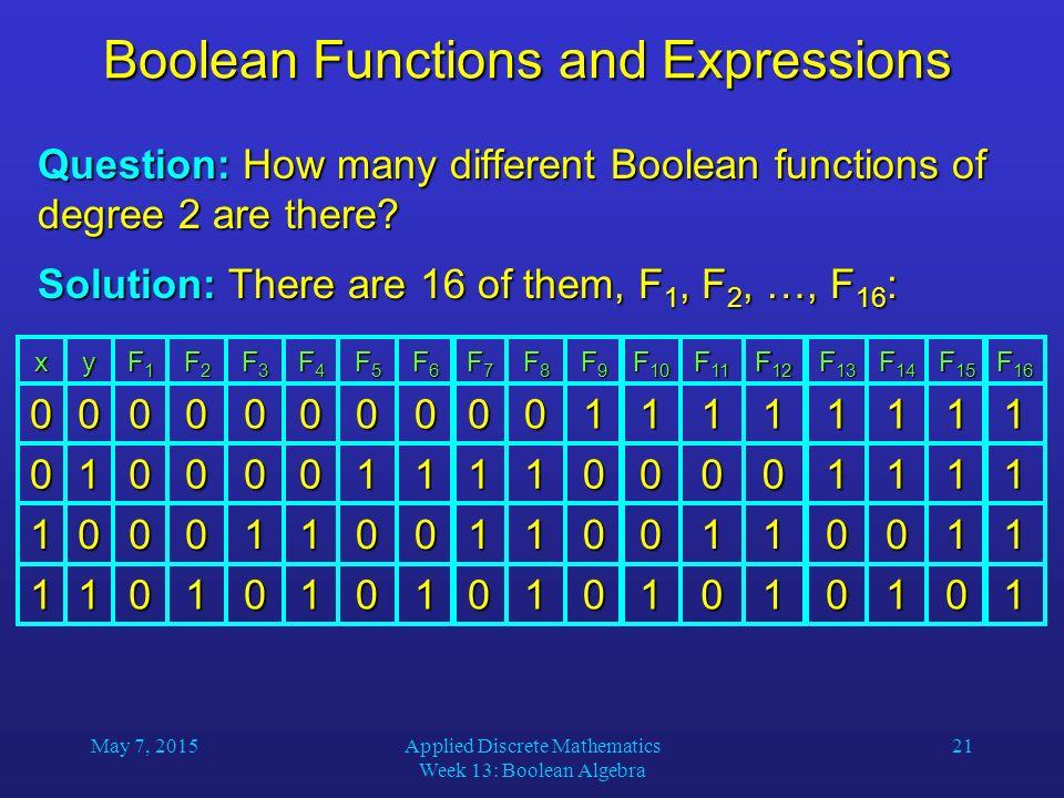 boolean algebra in discrete mathematics pdf