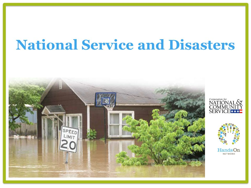 National Service and Disasters