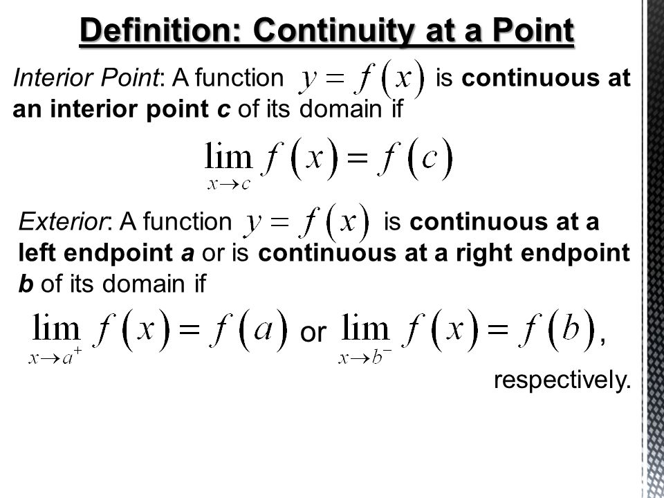 Definition: Continuity At A Point