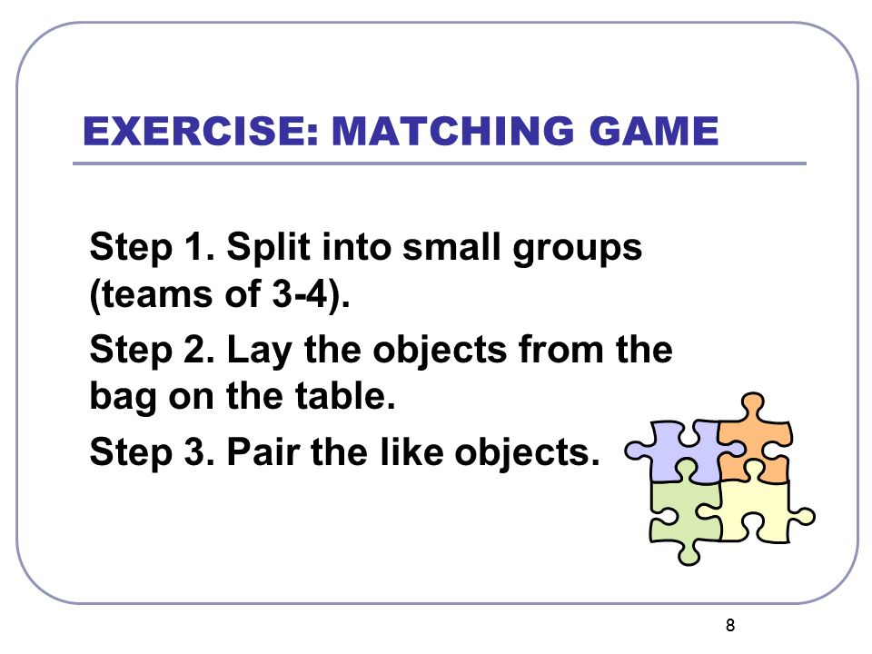 EXERCISE: MATCHING GAME