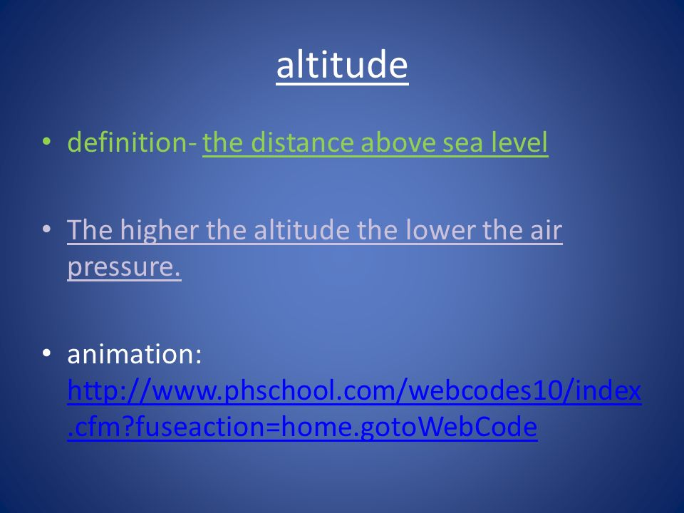 The Atmosphere Ppt Download - Distance above sea level