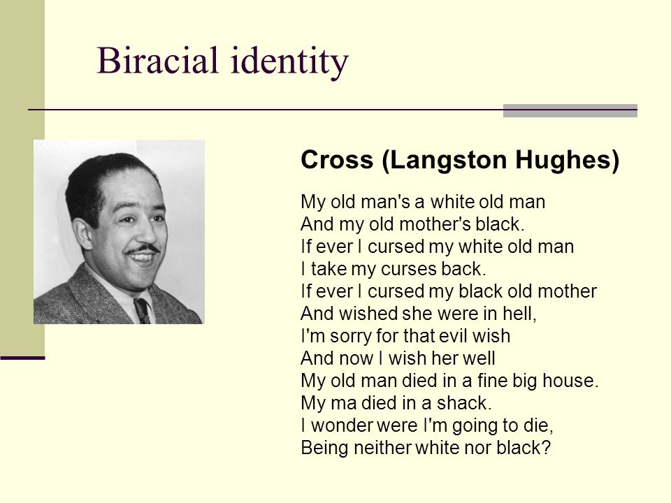 langston hughes and national identity We wanted our child to have a strong appreciation of his cultural roots and  that  afternoon, we bought two anthologies of langston hughes's.