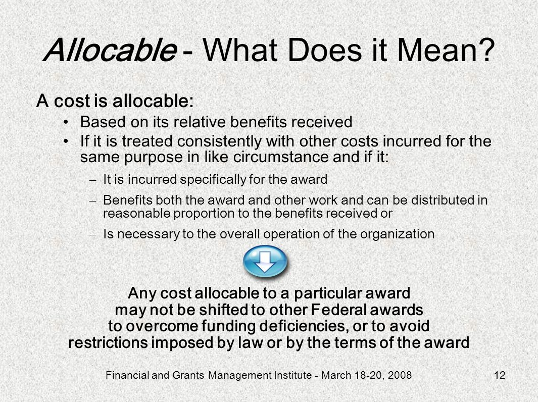 Allocable - What Does it Mean