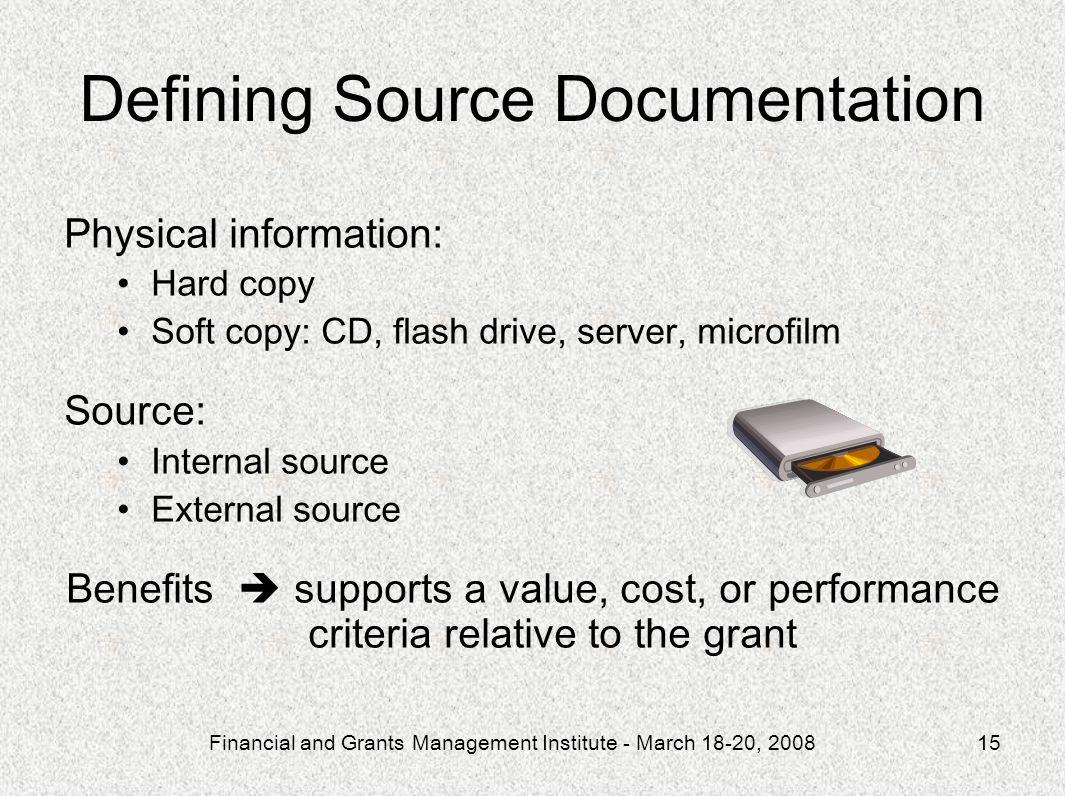 Defining Source Documentation