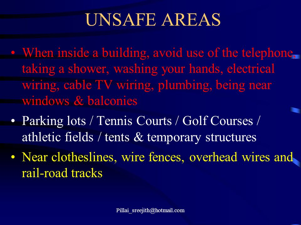 UNSAFE AREAS