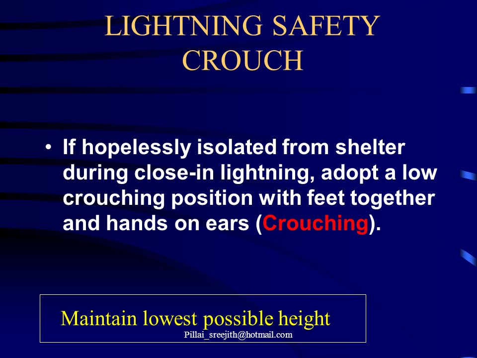 LIGHTNING SAFETY CROUCH