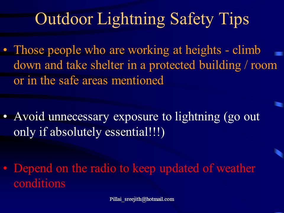 Outdoor Lightning Safety Tips