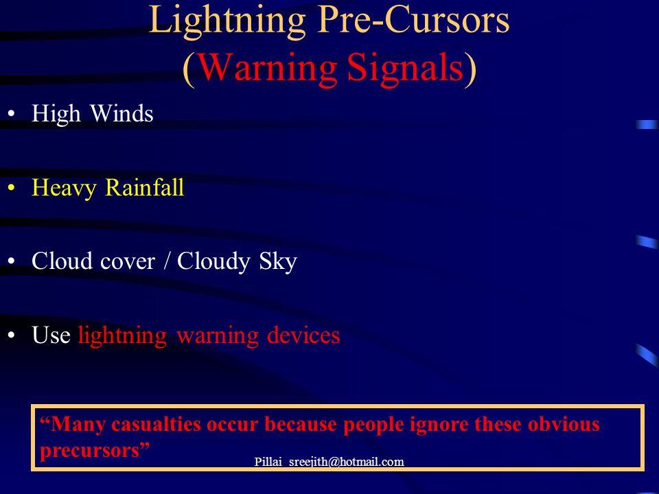 Lightning Pre-Cursors (Warning Signals)