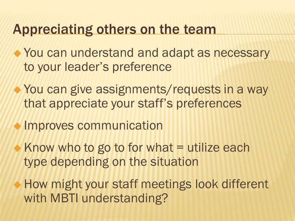 Appreciating others on the team