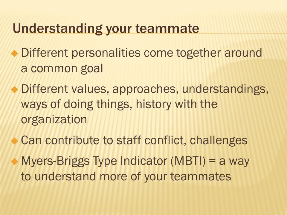 Understanding your teammate