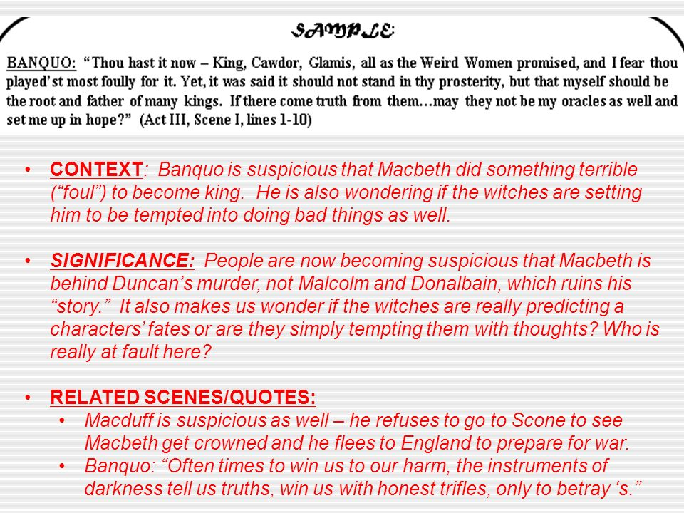 an analysis of the influence of the supernatural in the tragedy macbeth by william shakespeare William shakespeare william shakespeare was a great english playwright, dramatist and poet who lived during the late sixteenth and early seventeenth centuries shakespeare is considered to be the greatest playwright of all time.