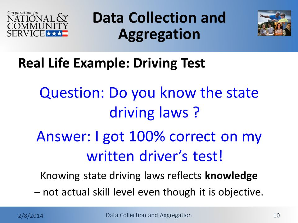 Real Life Example: Driving Test