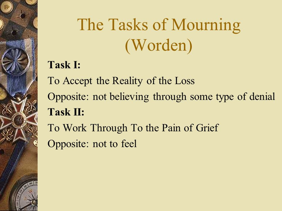 The Tasks of Mourning (Worden)