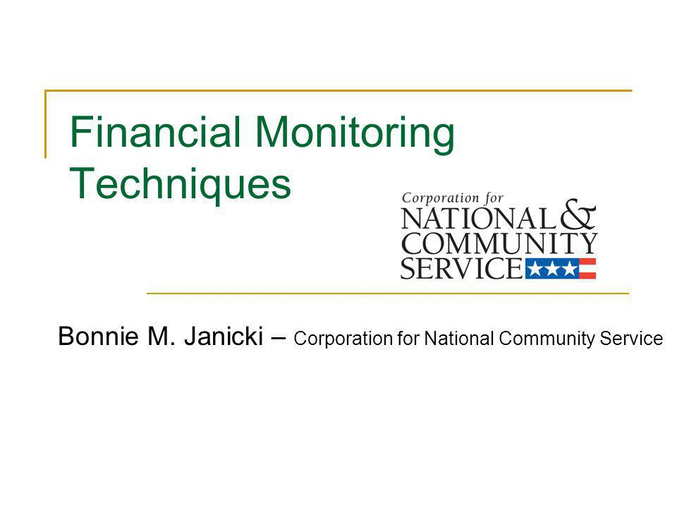 Financial Monitoring Techniques