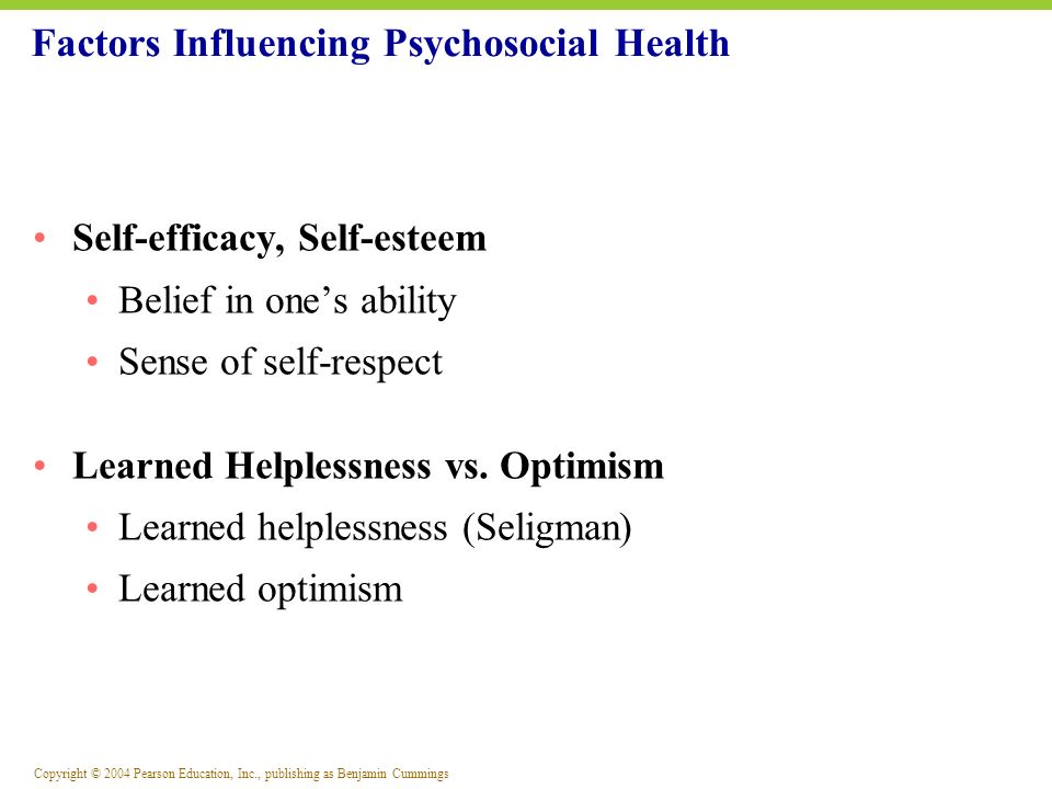 Factors Influencing Psychosocial Health