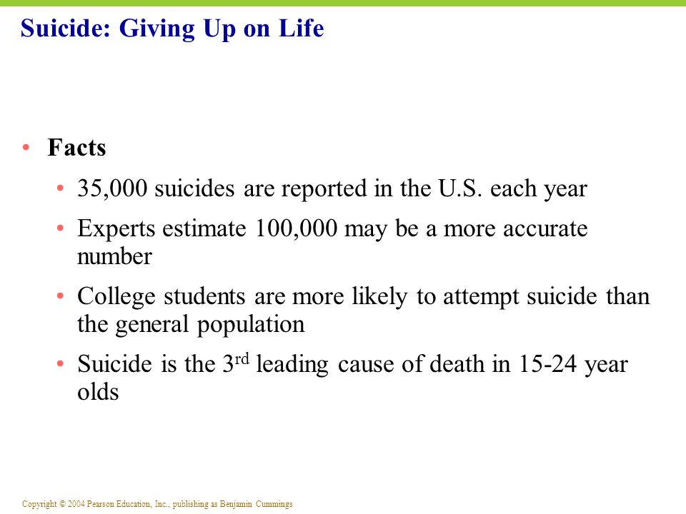 Suicide: Giving Up on Life