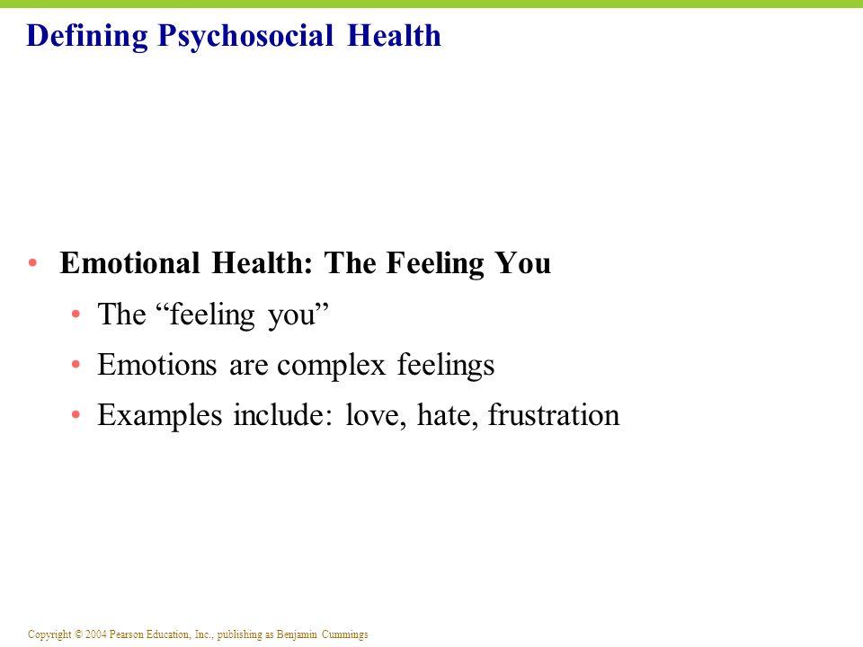 Defining Psychosocial Health