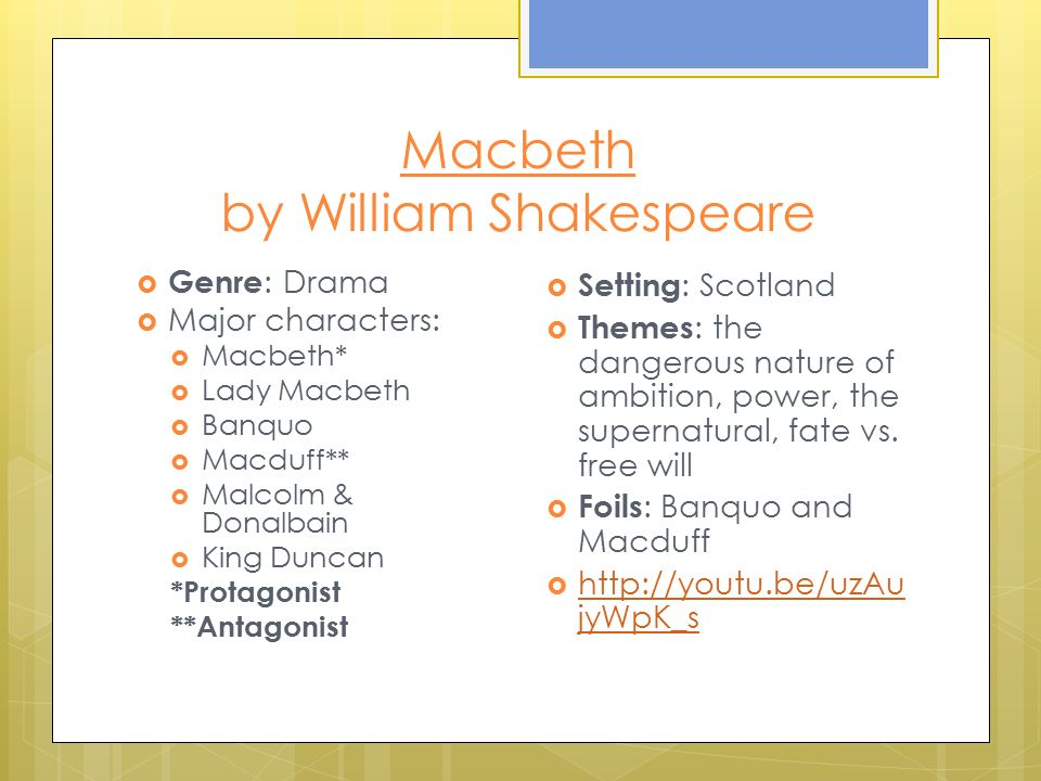 Macbeth: a study in power