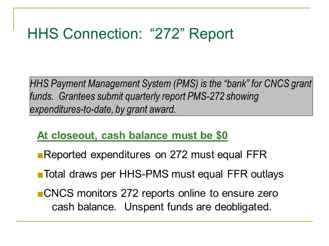 HHS Connection: 272 Report