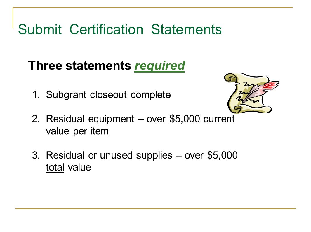 Submit Certification Statements