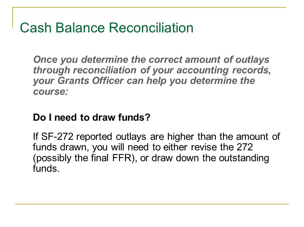 Cash Balance Reconciliation