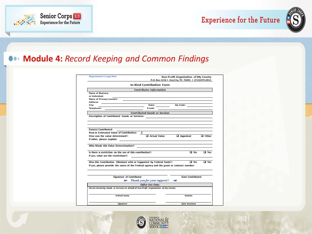 Module 4: Record Keeping and Common Findings