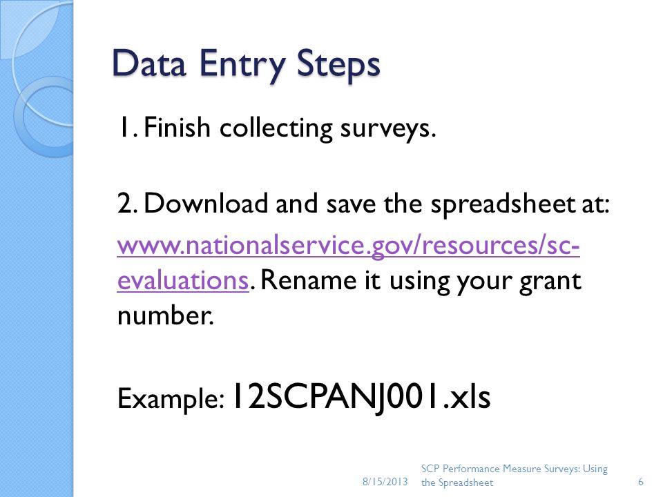 8/15/2013 Data Entry Steps.