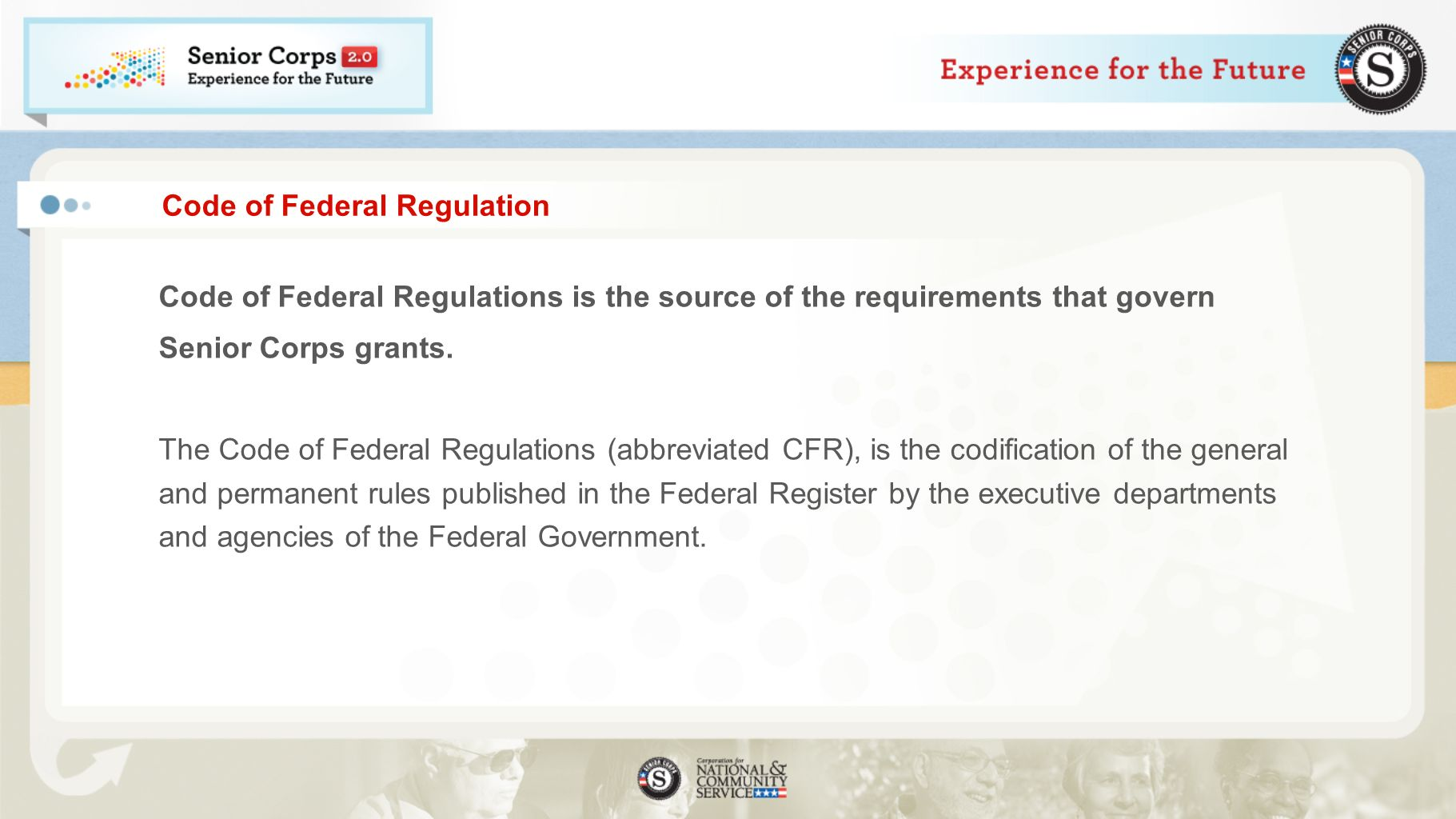 Code of Federal Regulation