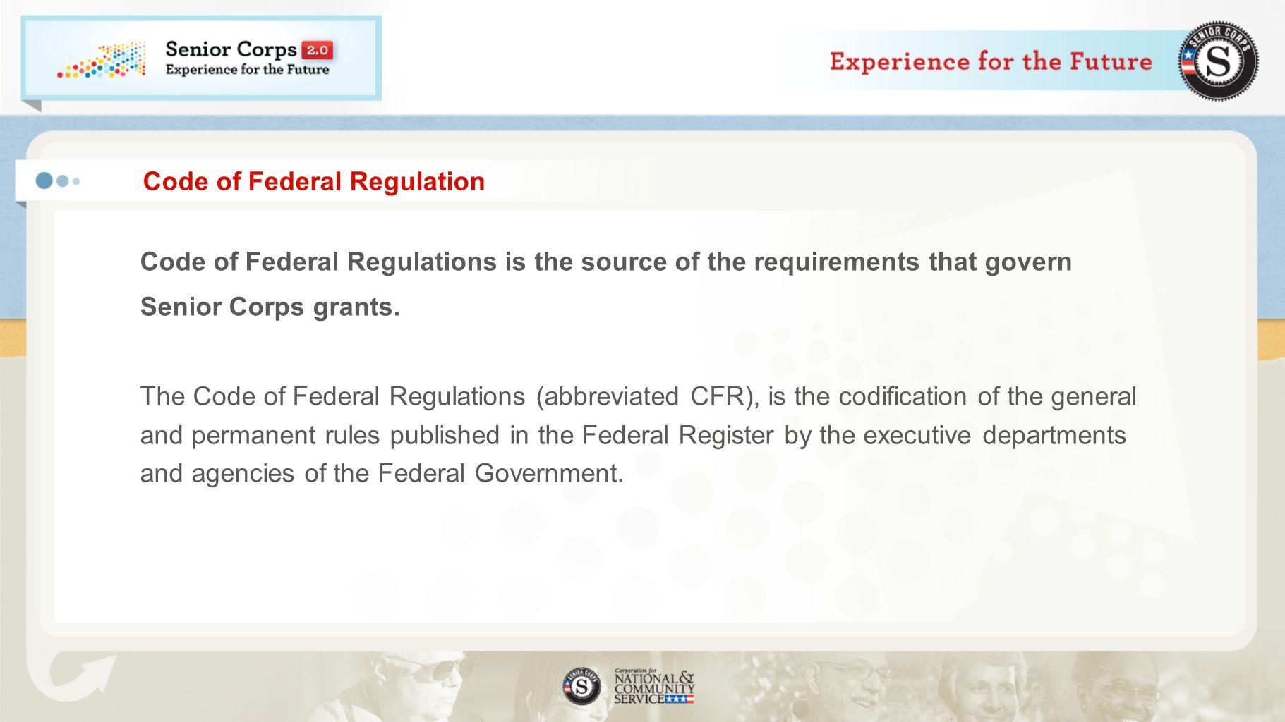 Code of Federal Regulation