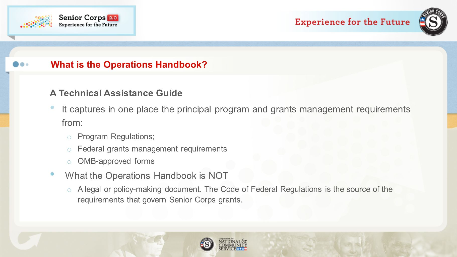 What is the Operations Handbook