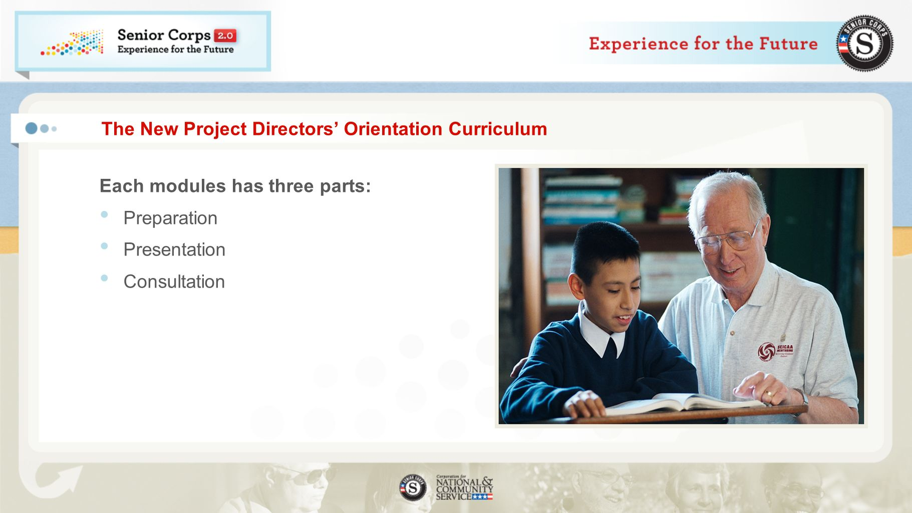The New Project Directors' Orientation Curriculum
