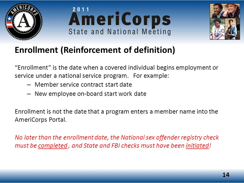 Enrollment (Reinforcement of definition)