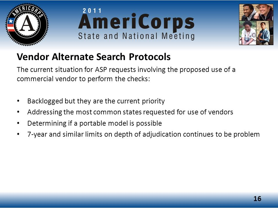 Vendor Alternate Search Protocols