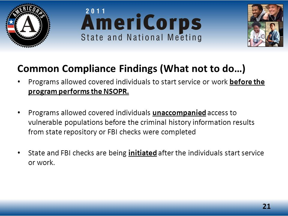 Common Compliance Findings (What not to do…)