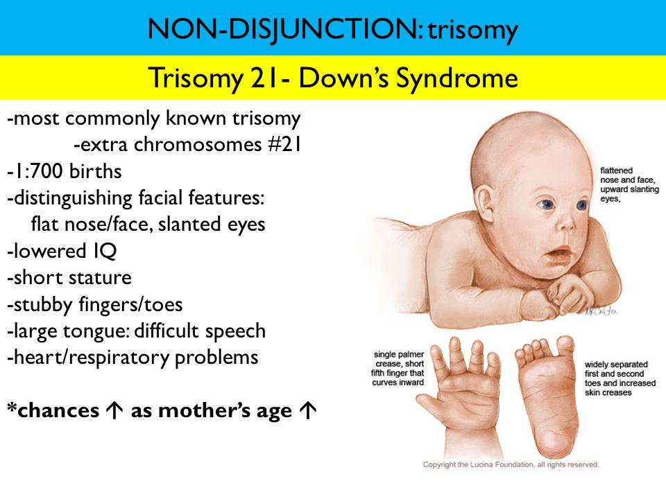 NON-DISJUNCTION: trisomy