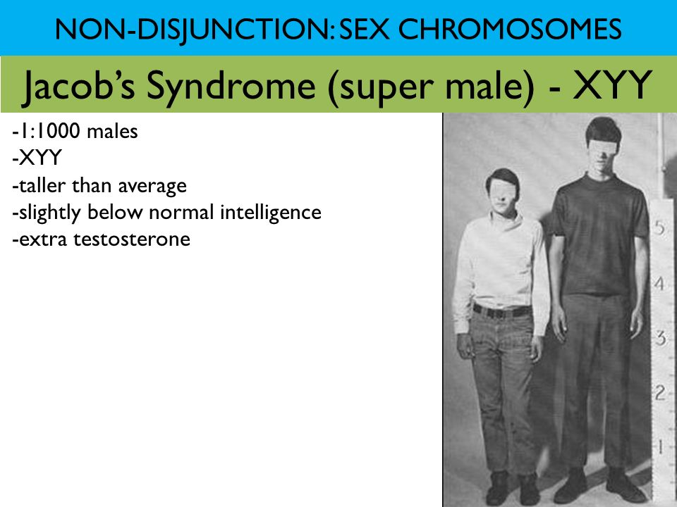 NON-DISJUNCTION: SEX CHROMOSOMES