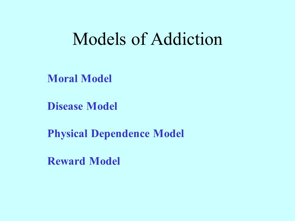 models for addiction