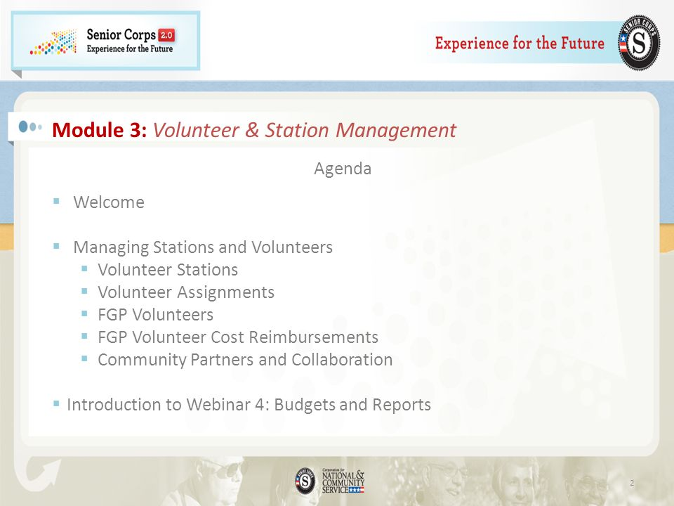 Module 3: Volunteer & Station Management