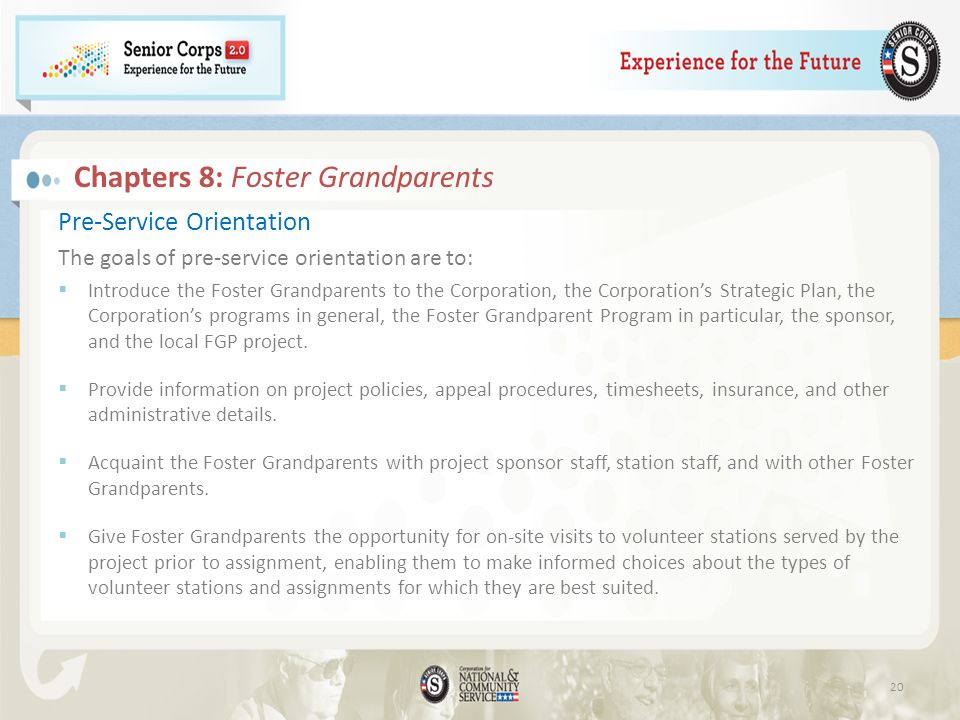 Chapters 8: Foster Grandparents