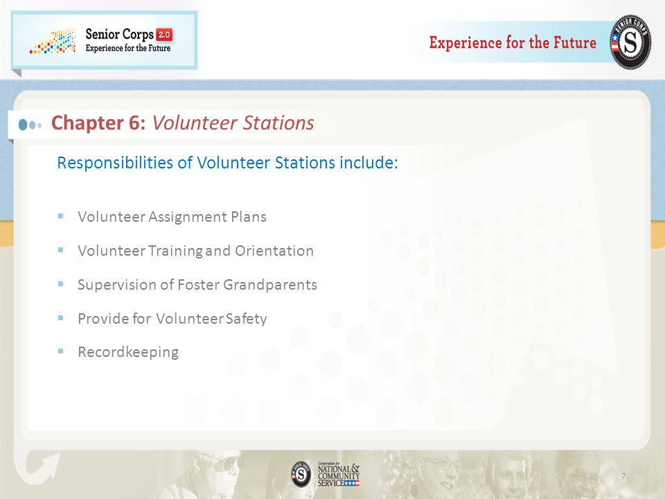 Chapter 6: Volunteer Stations