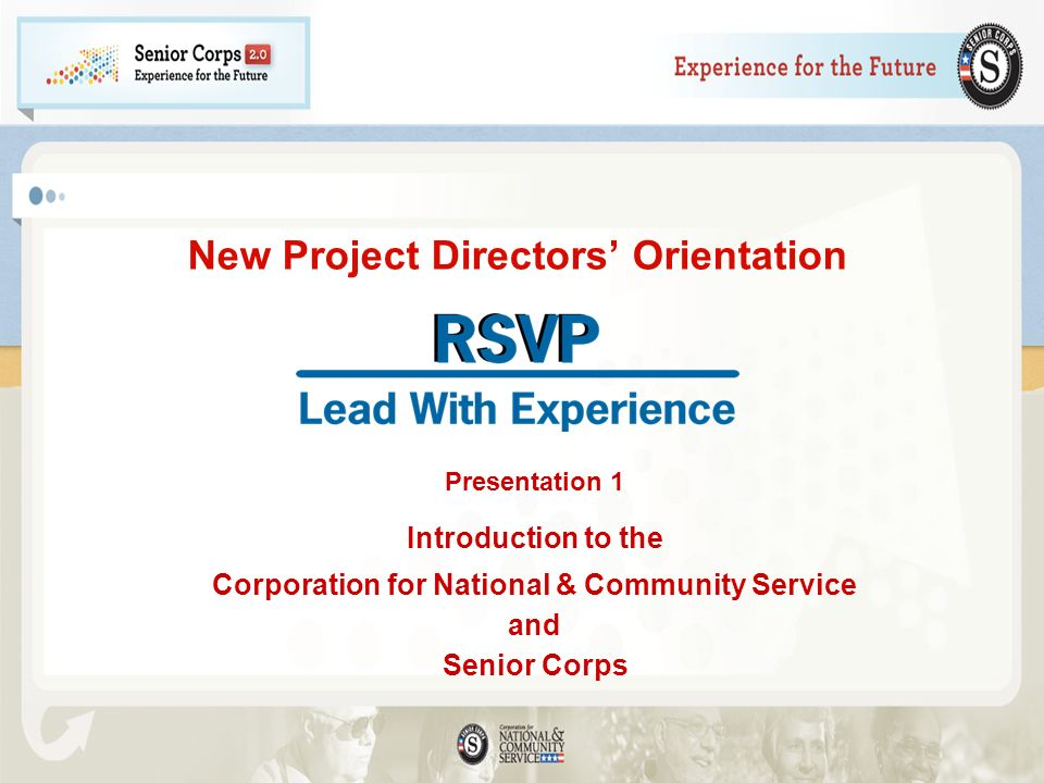 New Project Directors' Orientation