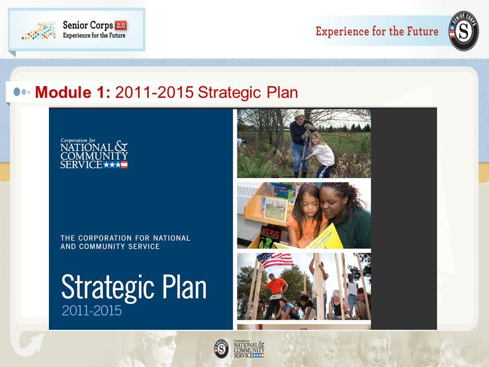 Module 1: 2011-2015 Strategic Plan