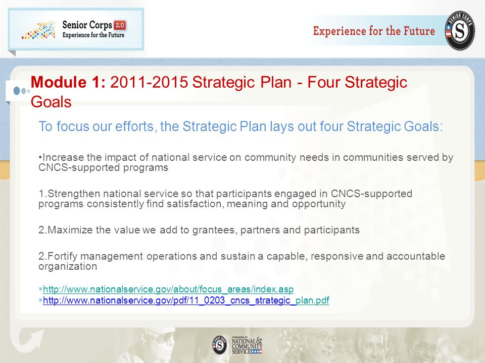 Module 1: Strategic Plan - Four Strategic Goals