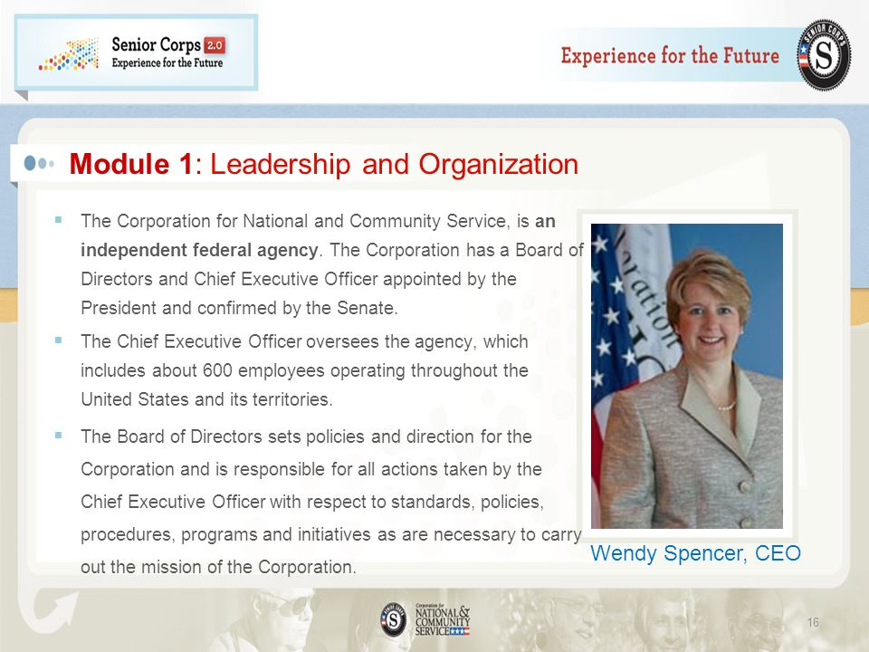 Module 1: Leadership and Organization