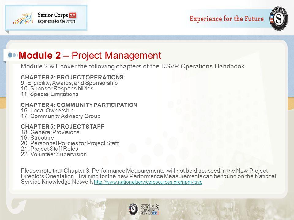 Module 2 – Project Management