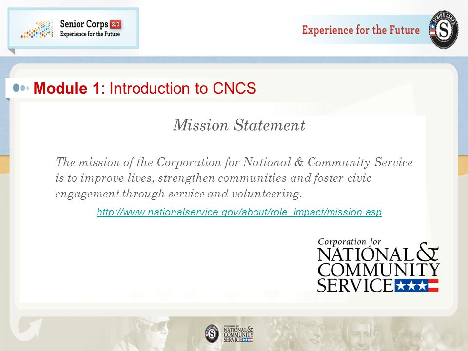 Module 1: Introduction to CNCS