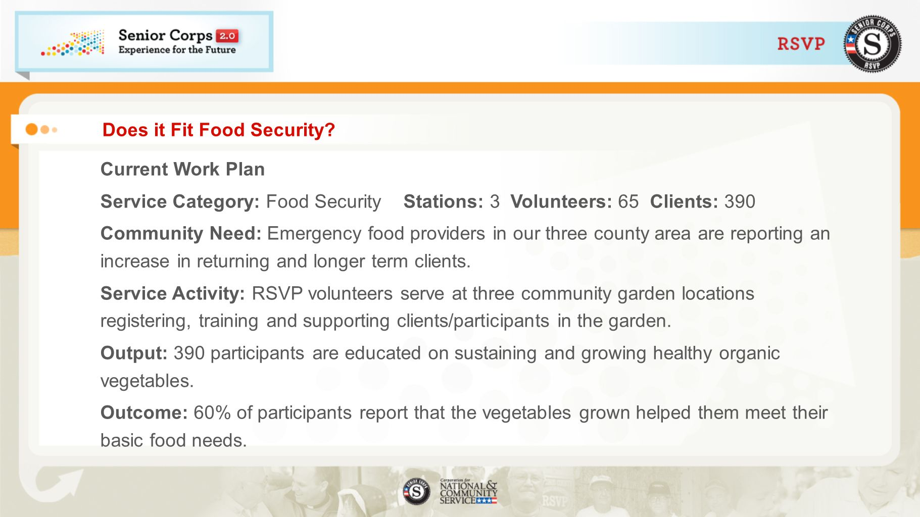 Does it Fit Food Security
