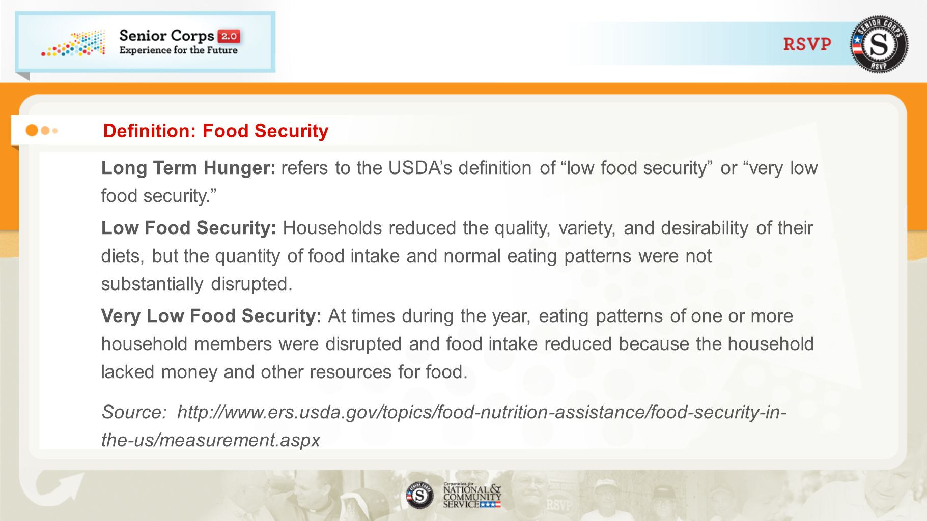 Definition: Food Security