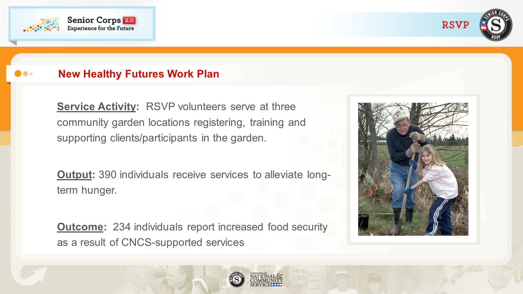 New Healthy Futures Work Plan